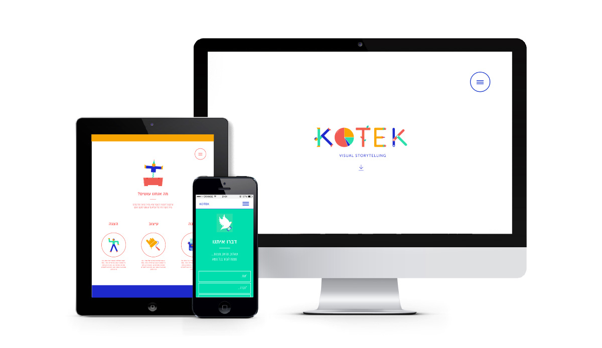 koter responsive website by Avitalster